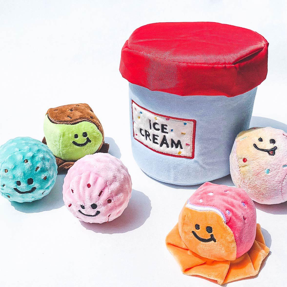 Cubo de helado para perro, bola luminosa BB, llamada comercial Exterior, juguete Vocal para mascota, divertido juguete de entrenamiento