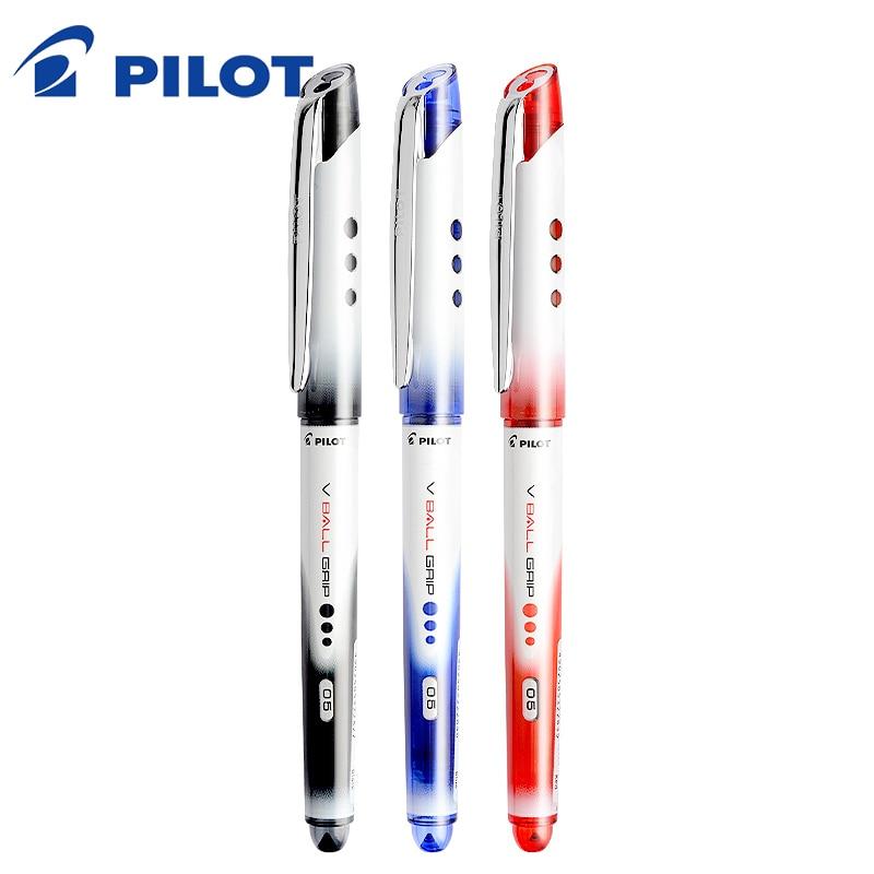 Wholesale 12pcs/lot 0.5mm RollerBall Pen Original Japan Pilot V Ball Grip BLN-VBG5 standard office&school sign pen