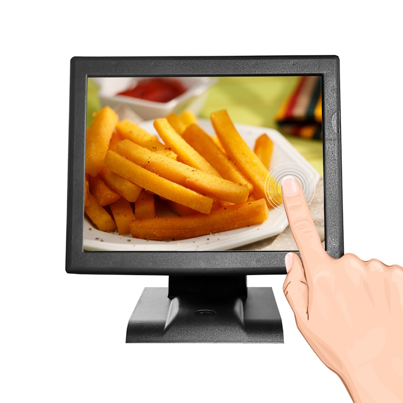 cash register pos system 15 inch Touch Resistive screen POS Terminal All In One for restaurant retail with card reader for win7