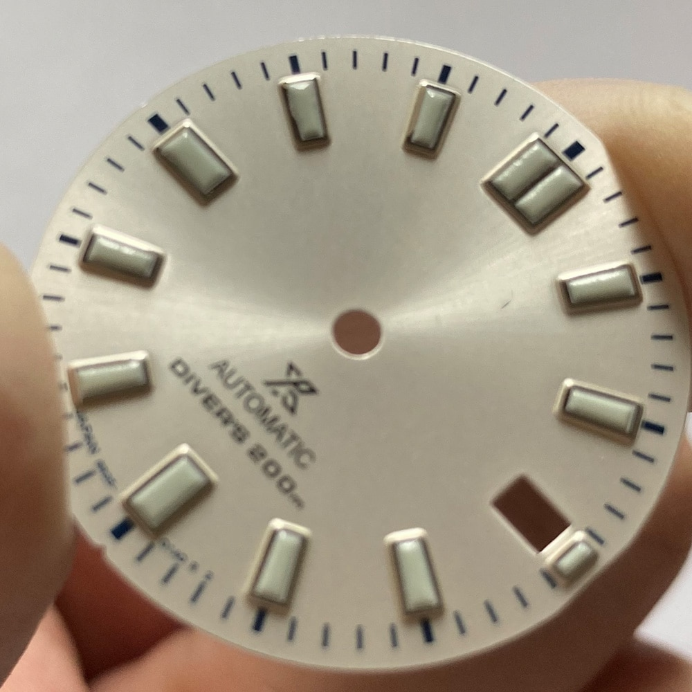 Watch Parts 28.5mm White Dial Super Luminous Modify Dial Fit NH35/4R35 Automatic Movement enlarge