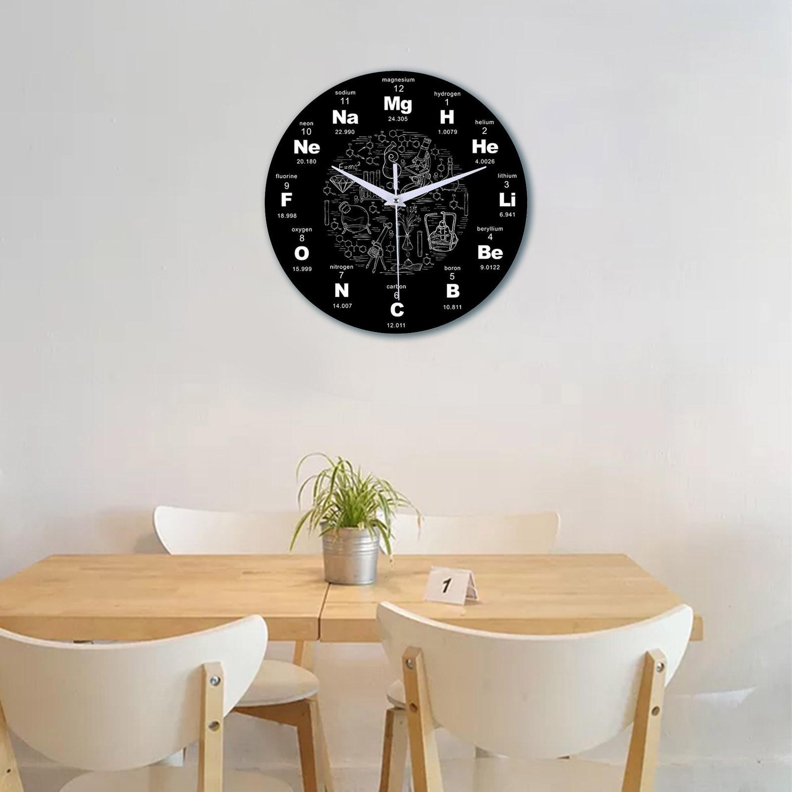 Reloj de Pared creativo de Química, silencioso, redondo, para sala de estar,...
