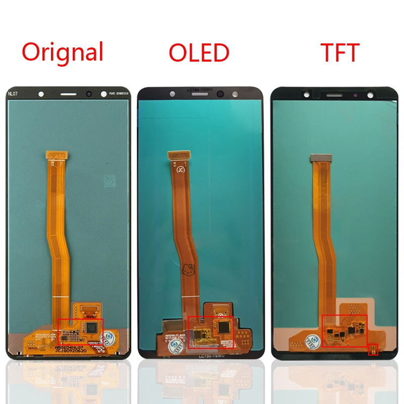 100% tested OLED For Samsung Galaxy A7 2018 A750 LCD Display For A750F SM-A750F A750FN A750G Display Screen enlarge