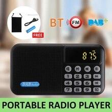 Récepteur de lecteur de Radio numérique DAB + FM Mini haut-parleur bluetooth Portable récepteur de musique stéréo FM