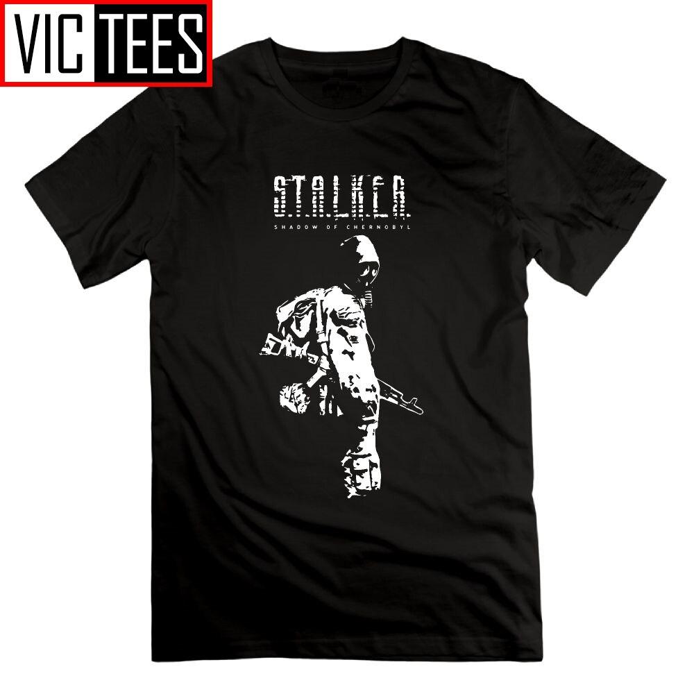 Stalker SOC Weiß Schatten von Tees Männer Rundhals Männer T Shirts Lustige Freizeit Kurzen Ärmeln T-Shirts 100% Baumwolle