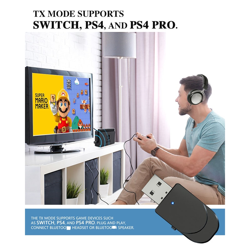 2-in-1-kn330-bluetooth-5-0-audio-transmitter-receiver-usb-computer-tv-adapter-car-dual-output-speaker-earphone