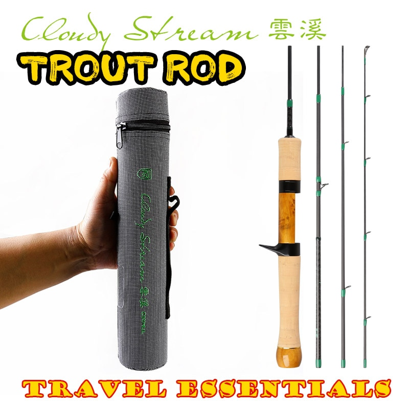 Kyorim CLOUDY STREAM TROUT ROD 1.19m UL Weight 63/64g  Japan Fuji Alconite Guide Spinning Casting Reel Seat TRAVEL ESSENTIALS enlarge