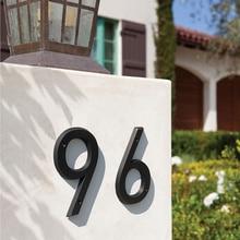 Numéro de maison moderne en 3D   De 15cm, nombre dadresse de maison pour porte numérique, signe dextérieur pour porte 6 pouces #0-9 âge Bronze