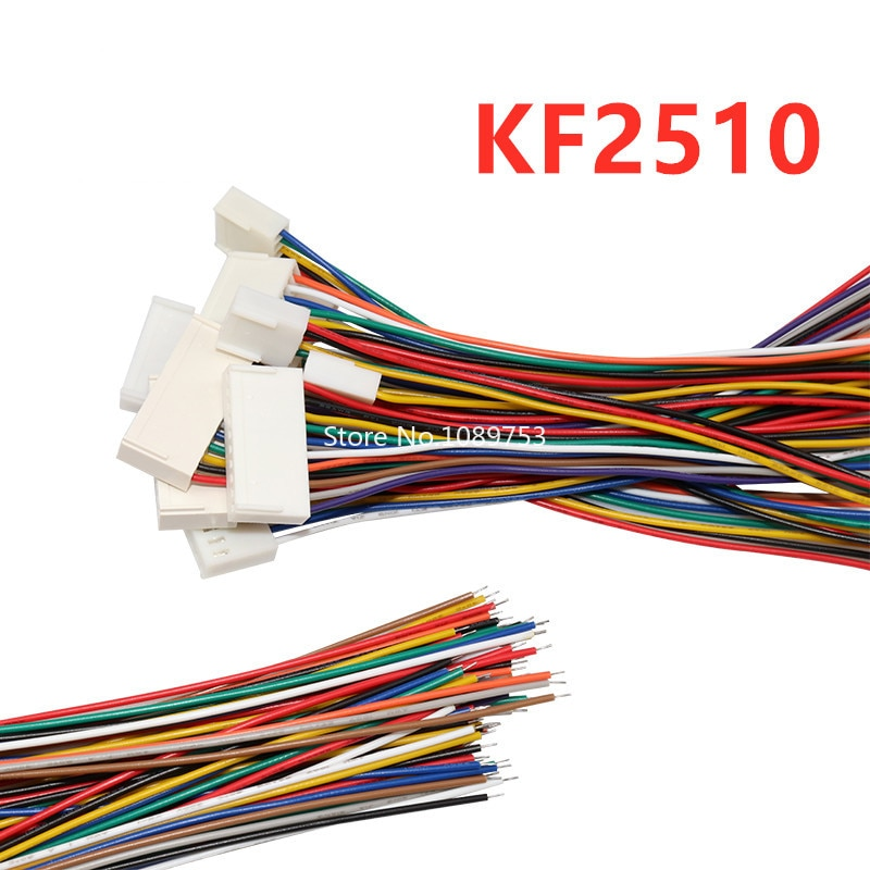 10PCS 20CM KF2510 Terminal Wire 2.54mm Spacing 2/3/4/5/6P Single Head Electronic Wire 26AWG Connecting Wire