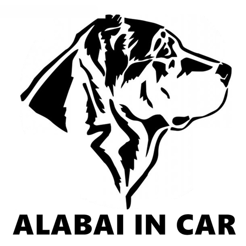 SZWL Alabai en Auto de La etiqueta engomada vinilo divertido Etiqueta de...