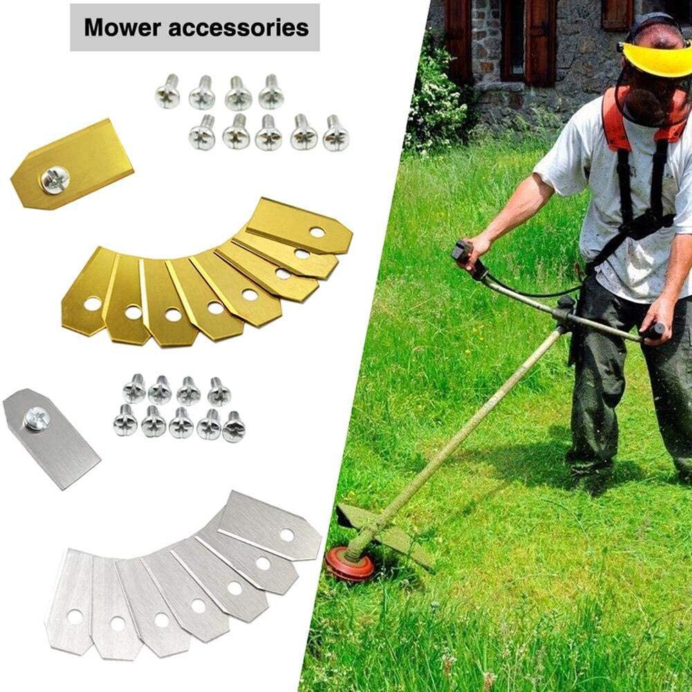 Lâmina útil do robô do gramado da lâmina da substituição do chapeamento do titânio de 9 pces/dourado para a máquina movente automática de husqvama