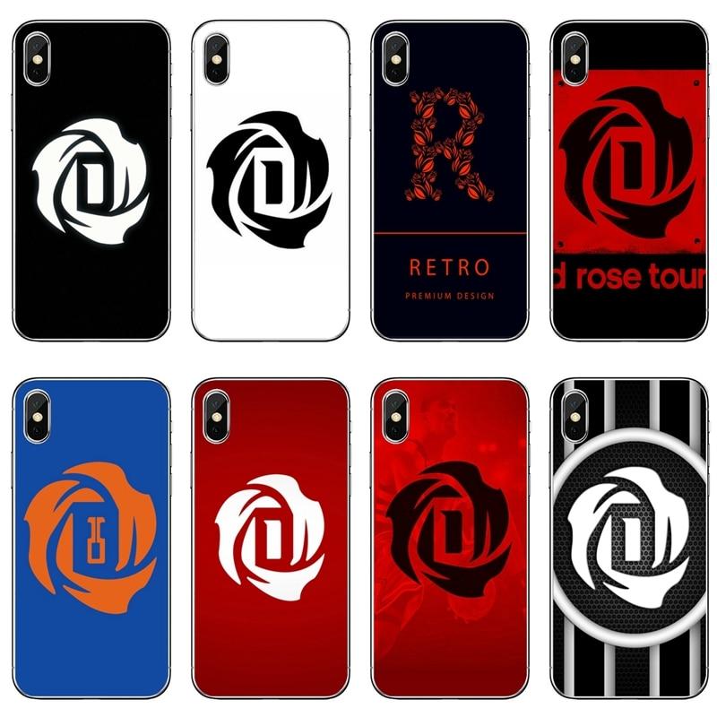 Derrick Rose accesorios funda para teléfono para iPhone 11 Pro XS Max XR 8X8 7 6 6S Plus 5 5S SE 4S 4 iPod Touch 5 6