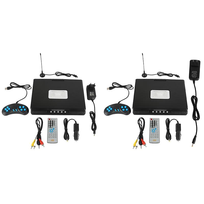 مشغل دي في دي للسيارة مقاس 9.8 بوصة ، محمول ، دوار عالي الدقة ، VCD ، MP3 ، HD ، مشغل DVD مع وحدة تحكم