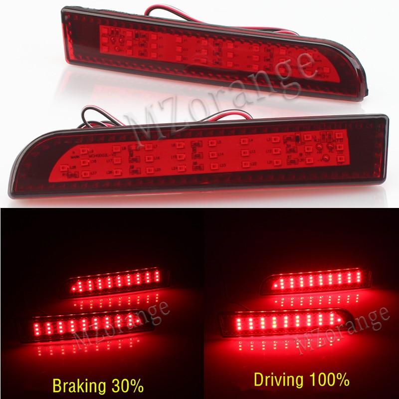 Светодиодный красный задний бампер отражатель задний стоп ходовой Поворотный Светильник лампа для Mitsubishi Lancer 2008 2009 2010 2011 2012 2013-14