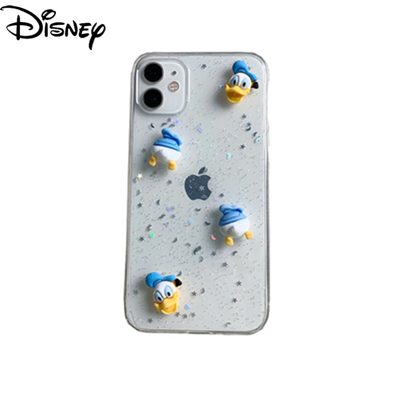 Disney mobile phone case for iPhone XR/11/12/x/7/8/6 mobile phone case cartoon stereo Mickey Donald Duck mobile phone case  - buy with discount