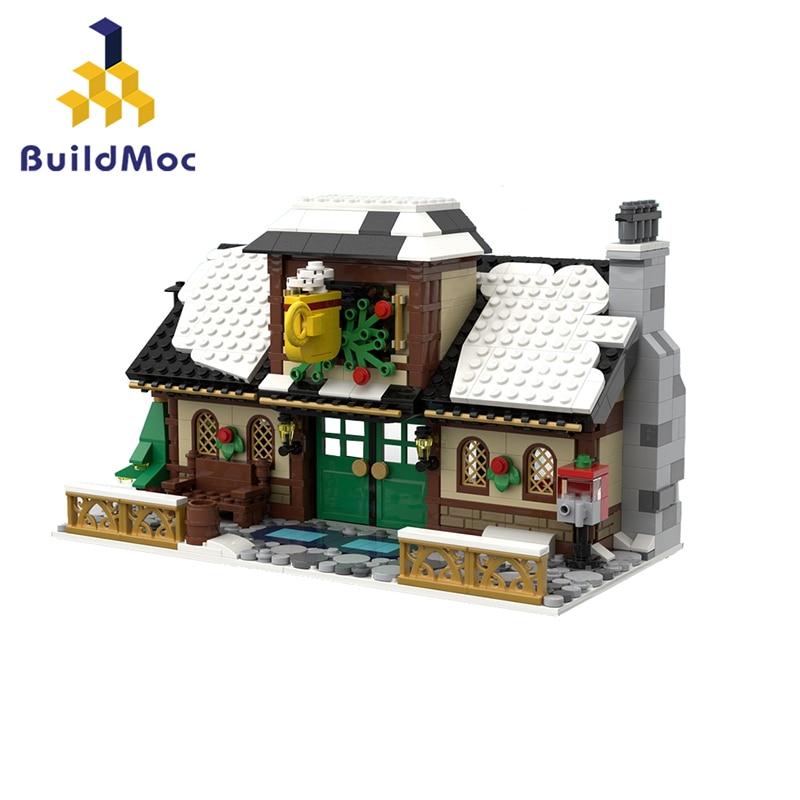 buildmoc cidade serie de natal 17649 inverno aldeia cafe casa cena criativo blocos