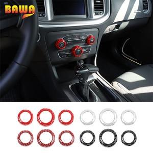 BAWA внутренние молдинги Авто кондиционер аудио переключатель ручка декоративное кольцо Крышка для Dodge Зарядное устройство 2015 +