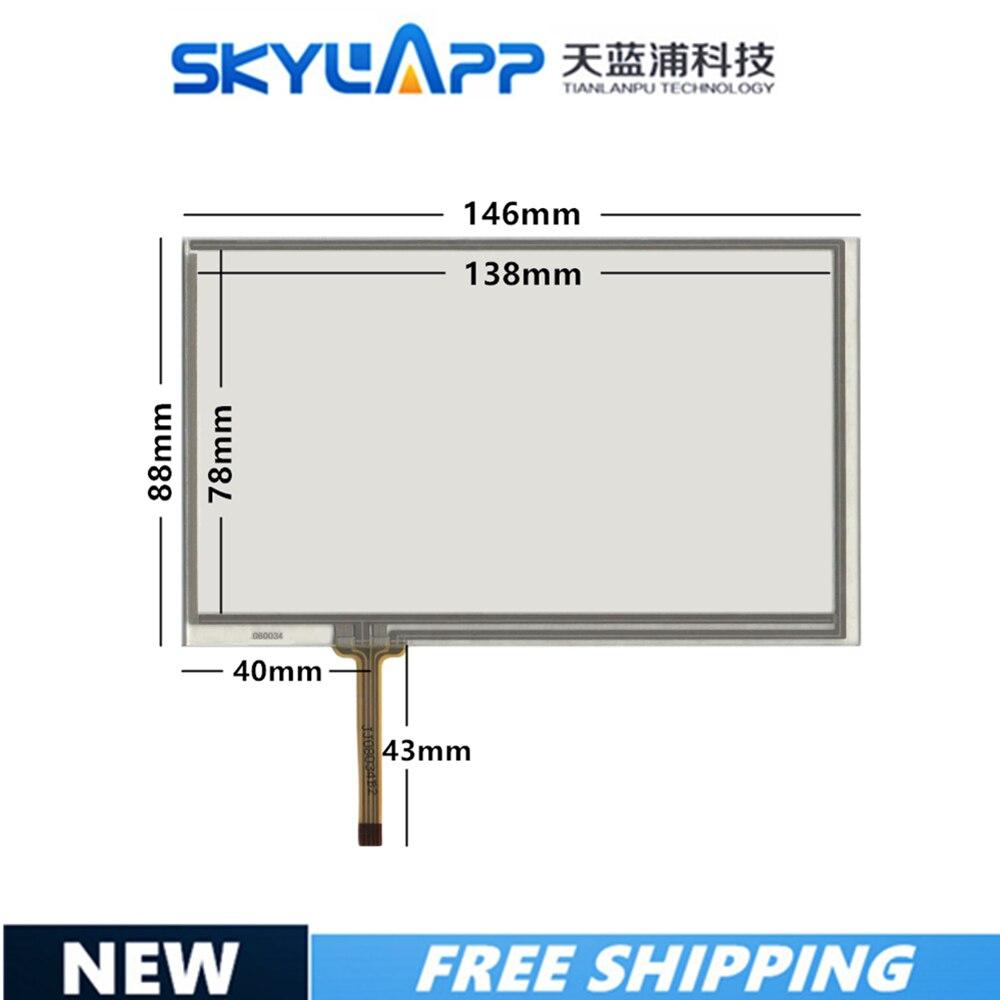 Nuevo 6 pulgadas 4 líneas 060034 Panel de pantalla táctil de resistencia 146mm * 88mm sensor táctil envío gratuito 146*88 pantalla táctil