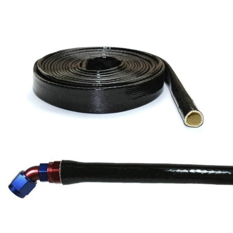 Black Fire Sleeve Glass fiber Braid Flame Shield Firesleeving Heat Shield For Engine Hose Protection