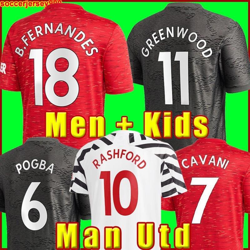 Manchester soccer jerseys UNITED CAVANI UTD VAN DE BEEK B. FERNANDES RASHFORD football shirt 20-21 man woman HUMANRACE fourth