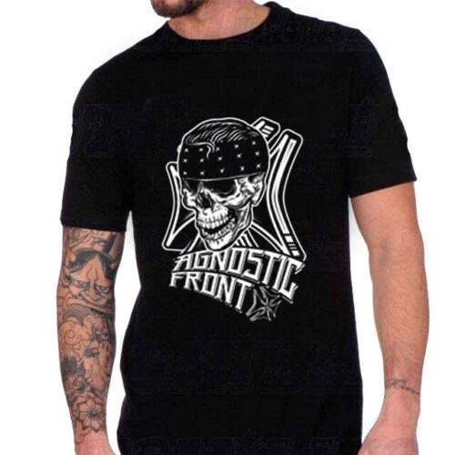 Camiseta Agnostic Front, camiseta negra de algodón, nueva camiseta para hombre, talla S a 3Xl