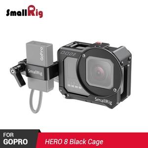 Smallrig gopro hero 8 preto vlogging gaiola e microfone adaptador titular para gopro hero8 preto com microfone adaptador titular 2678
