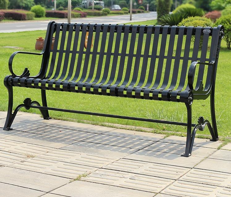 بارك كرسي في الهواء الطلق مقعد يلقي الألومنيوم الترفيه الحديد الفن المجتمع كرسي مزدوج كرسي فناء مقعد حديقة في الهواء الطلق