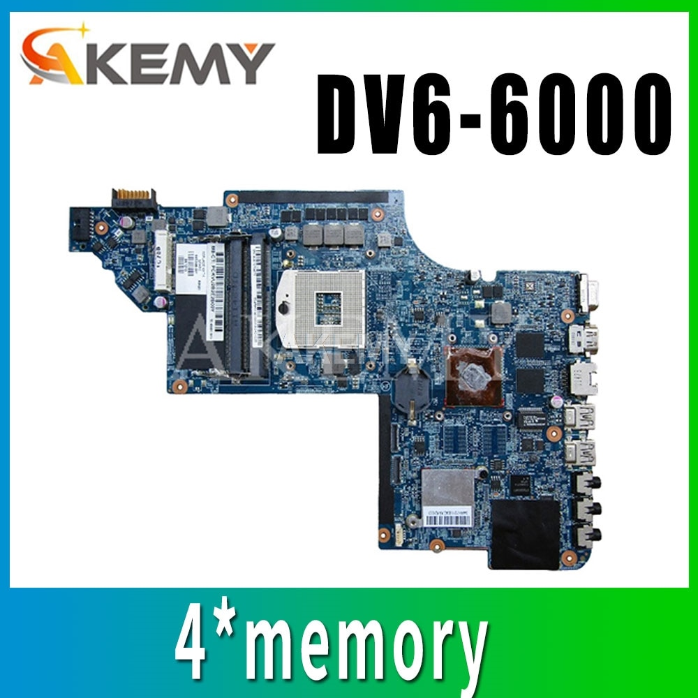 لوحة الأم للكمبيوتر المحمول 659998-001 ل For HP DV6 DV6-6000 اللوحة الرئيسية 641487-001 659147-001 For HPMH-41-AB6200-D00G DDR3 اختبار كامل