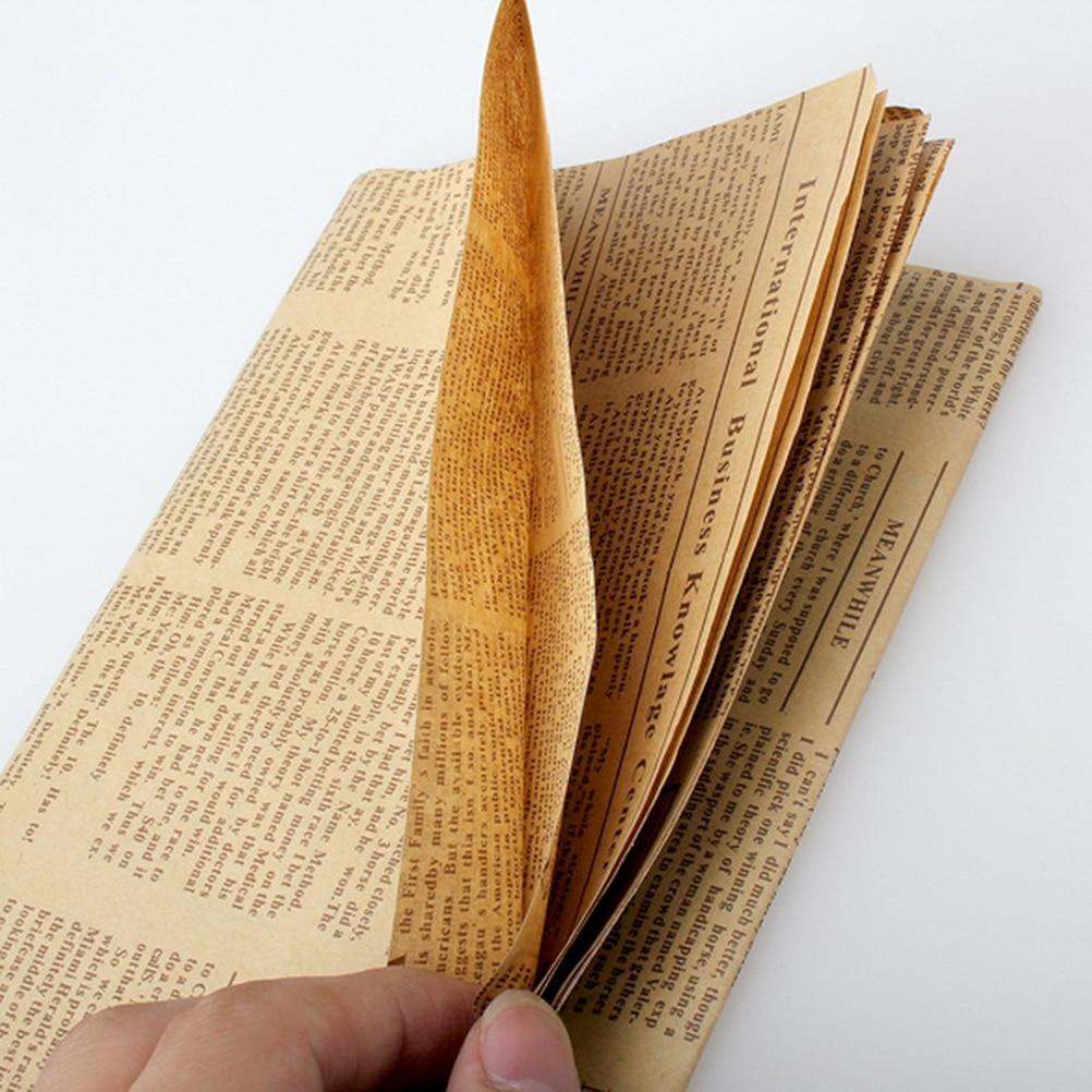 1 шт. винтажная газетная подарочная упаковочная бумага Artware упаковка сделай сам Обложка для книги крафт-бумага ...