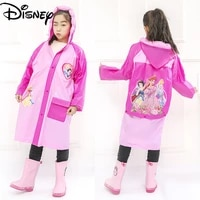 disney mickey mouse frozen childrens raincoats for boys and girls kindergarten pupils with schoolbags inflatable hat raincoats