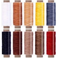 lmdz 550yards leather sewing waxed thread150d 55yards per spool stitching thread for leather craft diybookbindingshoe repair