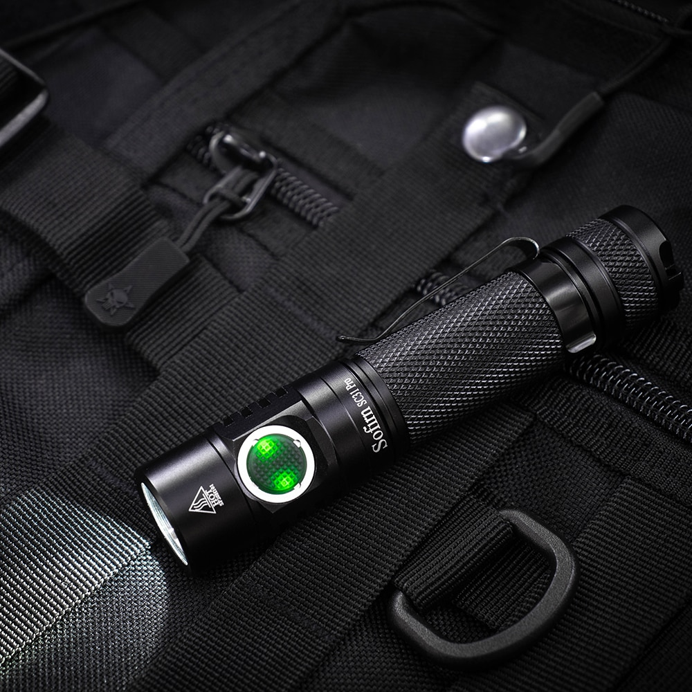 SC31Pro SST40 5000K Powerful 2000LM LED Flashlight 18650 Torch USB C Rechargeable Anduril UI enlarge