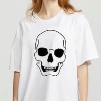 cartoon top tees kawaii t shirt showtly horro skull summer streetclothing tshirt women harajuku short sleeve fun ulzzang
