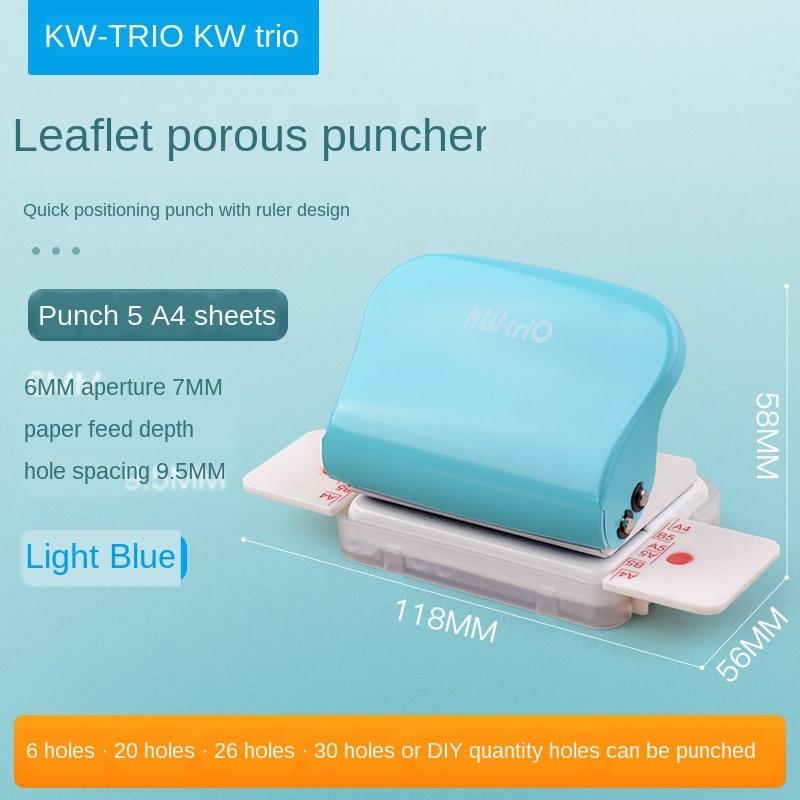 Perforadora porosa de hoja suelta adecuada para A4b5a5 perforadora de página interna de cuaderno de hoja suelta
