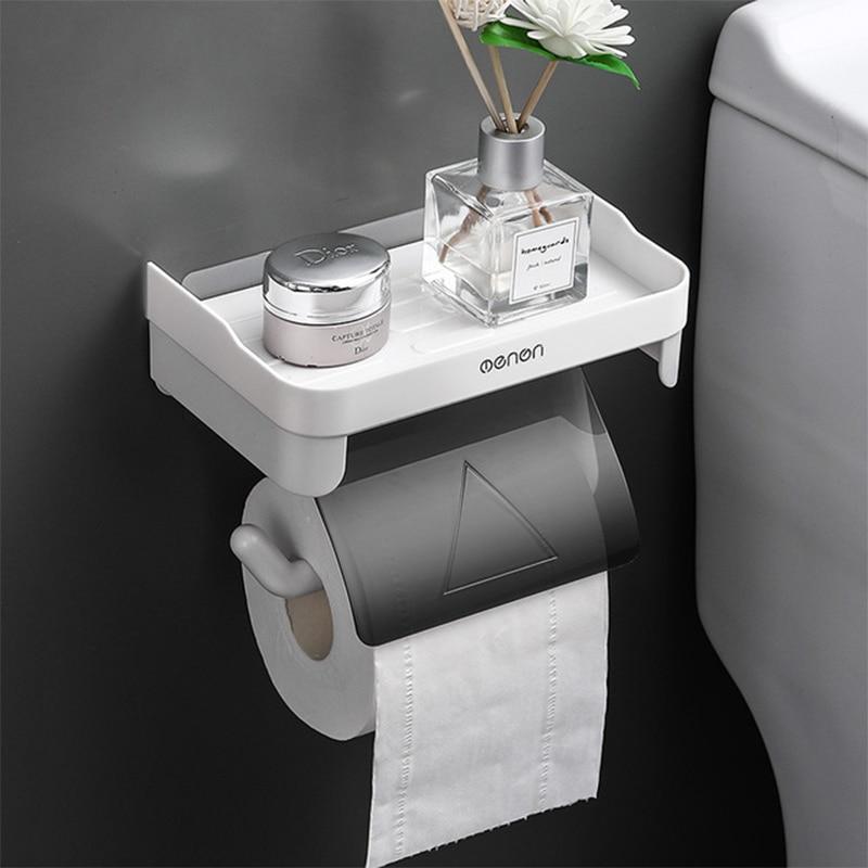 Настенный держатель для туалетной бумаги, держатель для ванной комнаты, настенный держатель для туалетной бумаги, самоклеящийся держатель ...