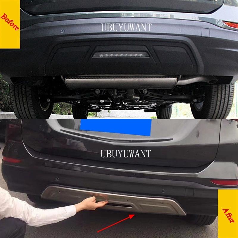 Para Chevrolet Equinox 2017 2018, paneles protectores traseros/delanteros, paneles decorativos de acero inoxidable, Kit de cuerpo Protector de parachoques
