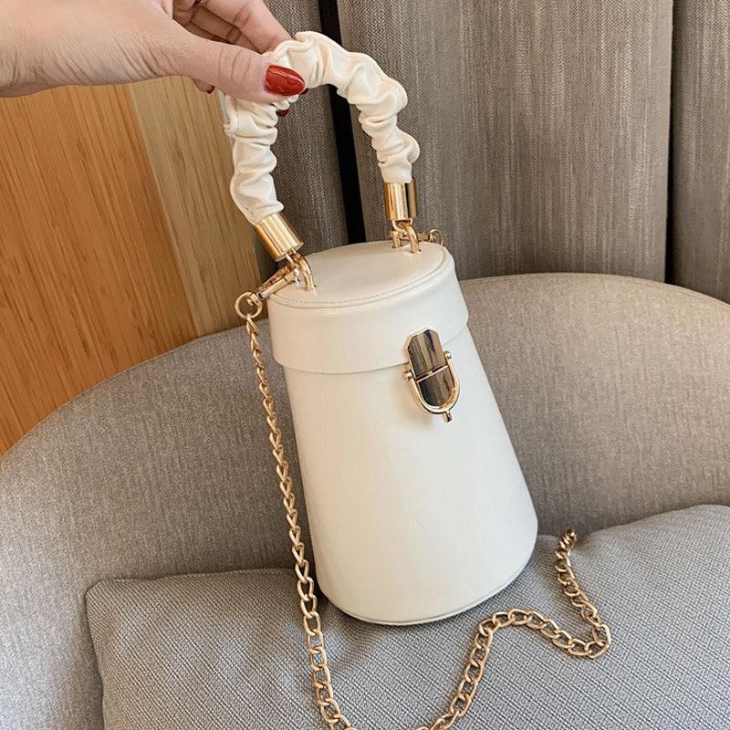 Small Chain Hand Bags for Women 2021 New Trend Fashion Brand Designer Crossbody Shoulder Bag Wild Female Bucket Handbags
