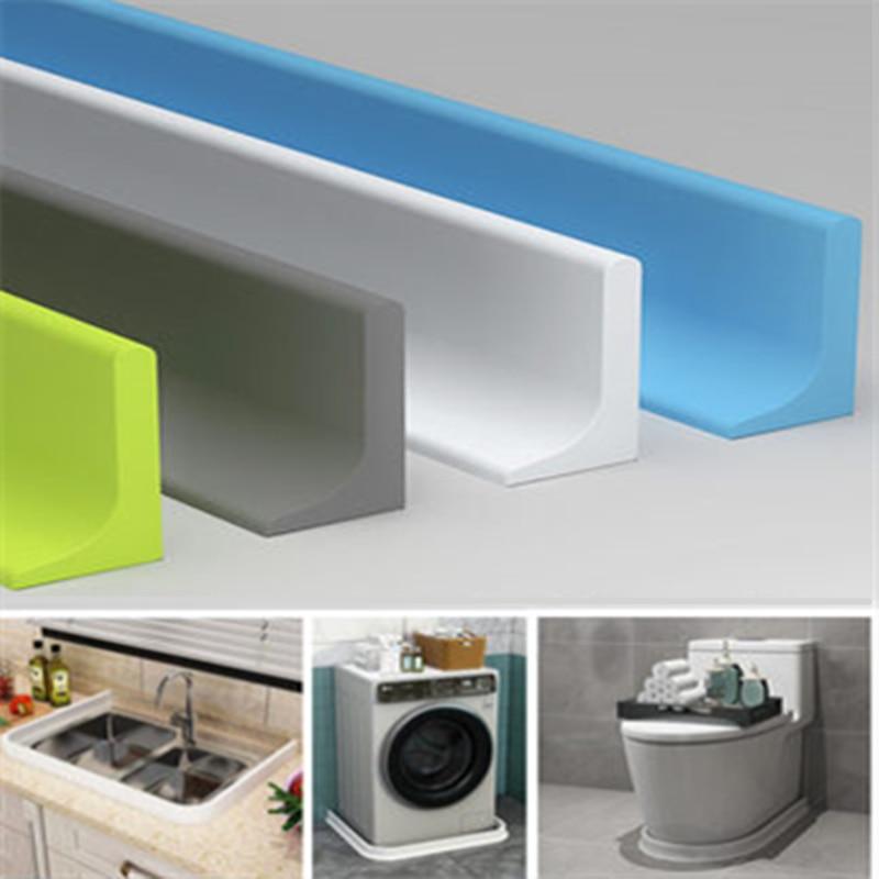 Силиконовая пробка для воды для ванной комнаты, удерживающая полоса для душа, водная перегородка, рельефный барьер, Резиновая полоса