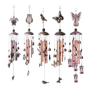 Retro Butterfly Tortoise Metal Iron Hanging Wind Chime Bells Pendant Home Garden Copper Memorial Wind Chimes Outdoor Ornament