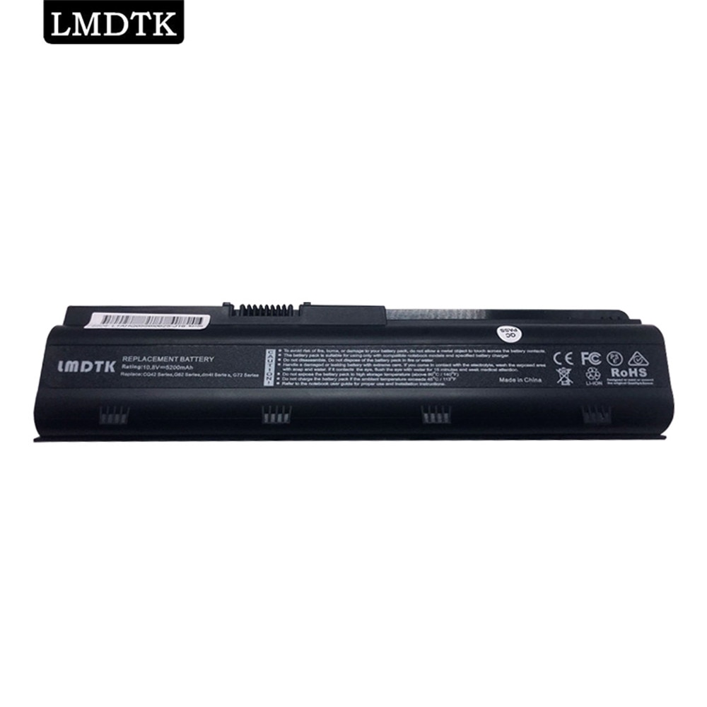 LMDTK New Laptop Battery For HP Pavilion g4 g6 g7 CQ32 CQ42 CQ62 CQ72 DM4 HSTNN-CBOX Q60C CB0W MU06 MU09 G32 G42 G62 znovay mu06 laptop battery for hp pavilion g4 g6 g7 cq42 cq32 g42 cq43 cq62 g32 dv6 dm4 g72 593562 001battery mu09 10 8v 47wh