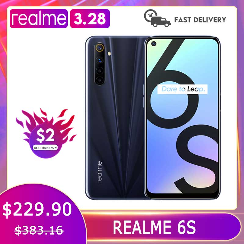 Realme 6s Smartphone 6/ 128GB 90Hz 6.5inch FHD+Display Telephone 48MP Qual Cameras Android 4300mAh 30W changer Cellphone