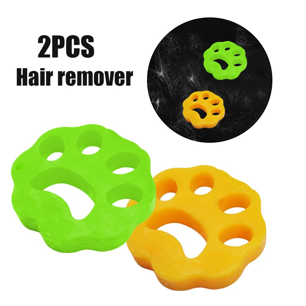 2pcs Pet Hair Catcher Cat Dog Fur Lint Hair Remover Clothes Dryer Washing Machine Accessories Reusab