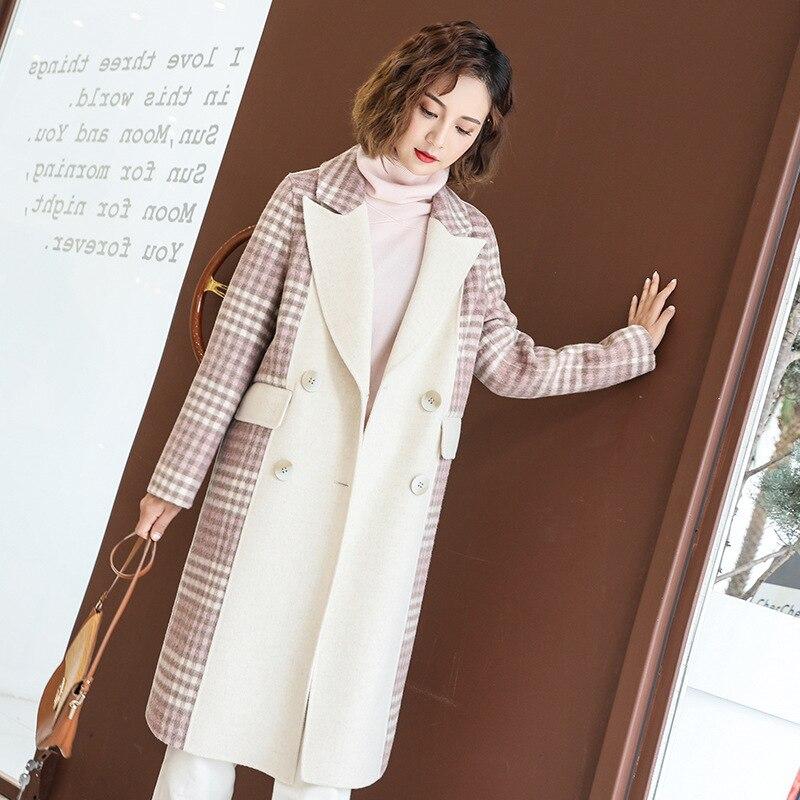 Abrigo de lana para Mujer primavera otoño Abrigos y chaquetas de doble...