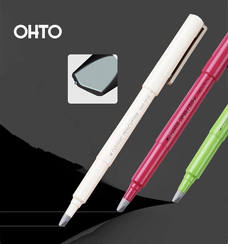 Japón papelería OHTO Tipo de rotulador cuchillo de cerámica creativo artista cuchillo importado KYOCERA hoja Mini pequeño niños DIY cuchillo de mano