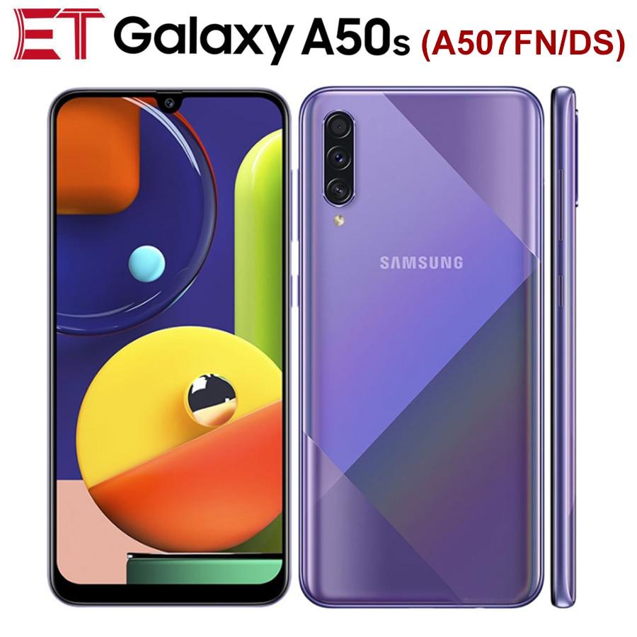 "Global Samsung Galaxy A50s A507FN/DS teléfono móvil Dual SIM 6GB de RAM 128GB ROM Octa Core 6,4 ""2340x1080p 4000mAh NFC teléfono Android"