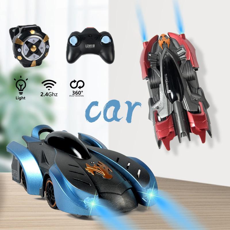 مكافحة الجاذبية سقف تسلق Rc سيارات لعب للأطفال 360 الدورية حيلة مكافحة الجاذبية آلة السيارات التحكم عن بعد ساعة ألعاب أطفال