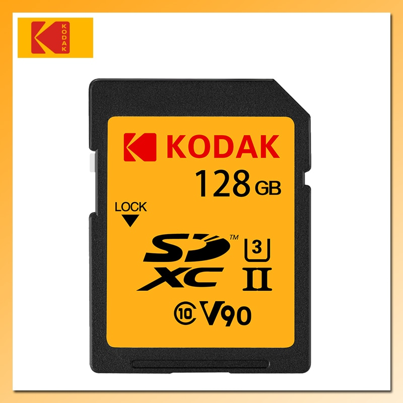 KODAK V90 High Speed Memory Card 128GB 64GB UHS-II SD Card SDXC Memory Card 280MB/s for Digital SLR/HD camera Tarjeta sd
