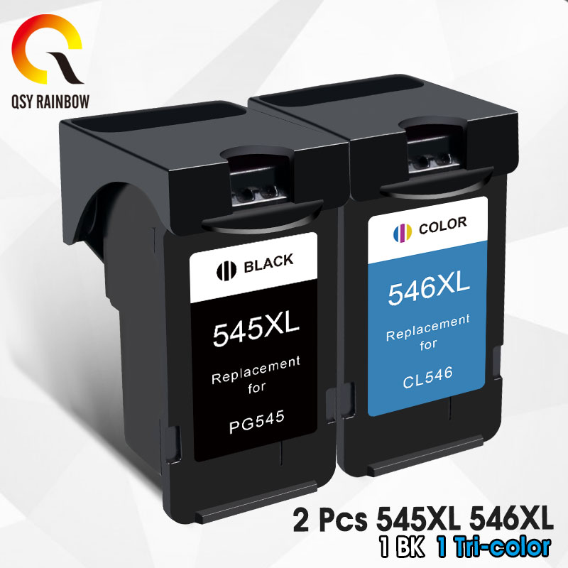 AliExpress - QSYRAINBOW Compatible 545XL 546 XL Cartridge Replacement for Canon PG545 PG 545 for Pixma MG3050 2550 2450 2550S 2950 MX495