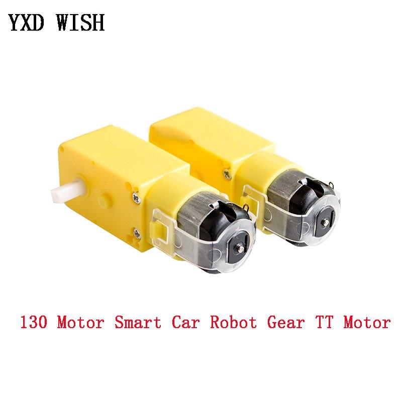 2pcs TT Motor 130motor Smart Car Robot Gear Motor DC 3V-6V Gear Motor Intelligent Car Chassis Drive