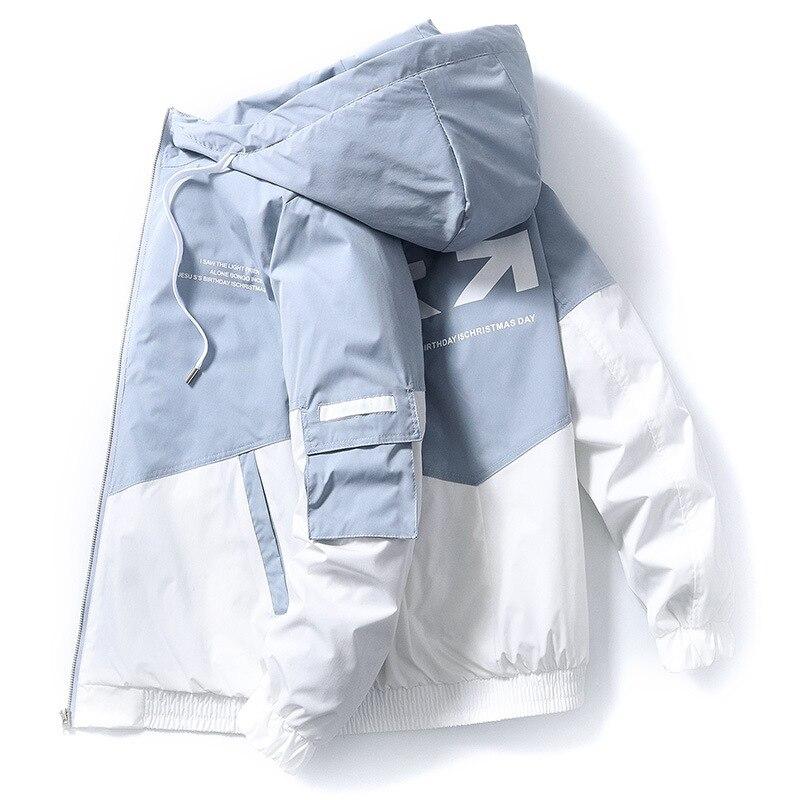 Мужская ветрозащитная куртка-пилот с принтом, демисезонная куртка-карго, 2021