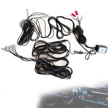 8 Pcs Rgb Led Sfeer Lampen Met Auto Interieur 10M Glasvezel Strip Licht & Vloer Voet Interieur Licht door Telefoon App Controle